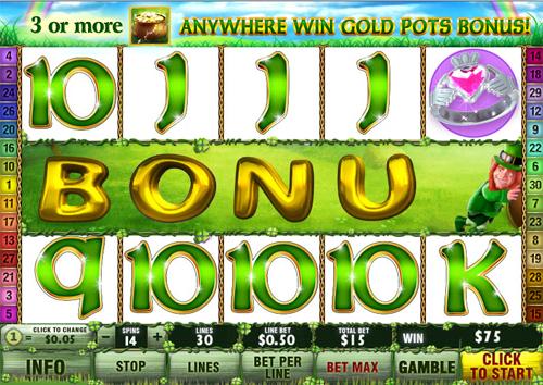 free Irish Luck bonus