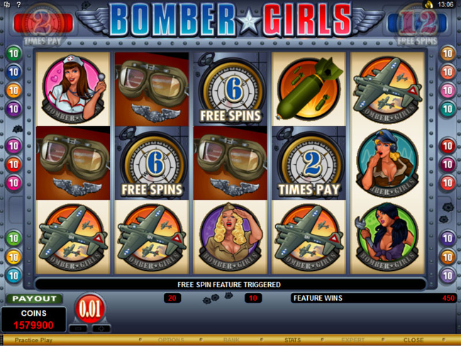free Bomber Girls slot bonus feature