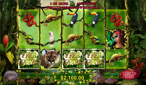 free Secrets of the Amazon free spins feature