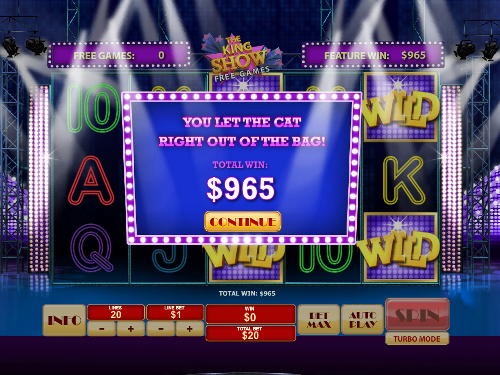 free Cat in Vegas free spins total prize