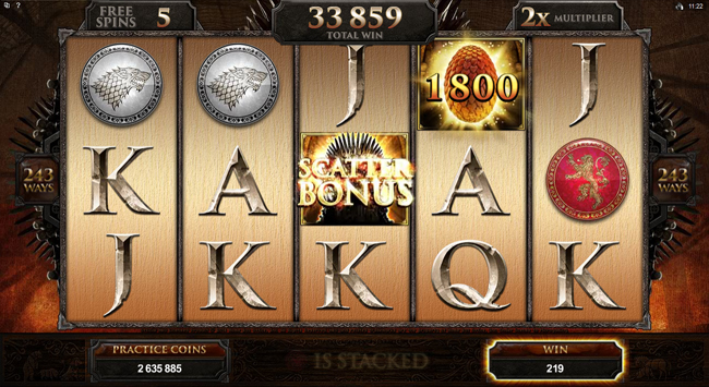 free Game of Thrones - 243 Ways slot bonus feature