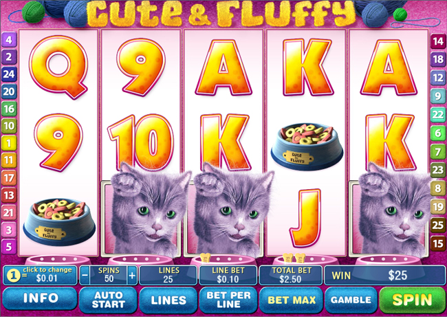 free Cute & Fluffy slot bonus feature
