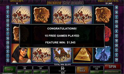 free The Pyramid of Ramsses Bonus Win