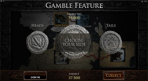 free Game of Thrones - 243 Ways gamble feature