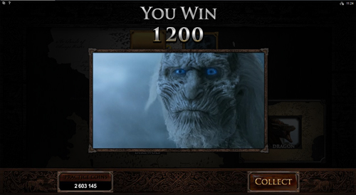 free Game of Thrones - 243 Ways gamble feature prize