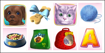 free Cute & Fluffy slot game symbols
