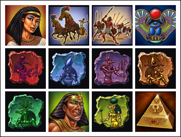 free The Pyramid of Ramsses slot game symbols