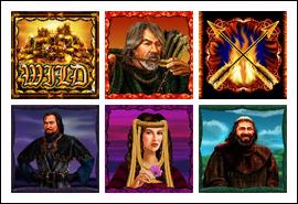 free Archer slot game symbols