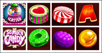 free So Much Candy slot game symbols