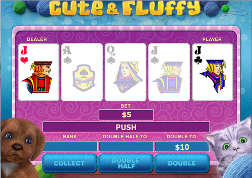 free Cute & Fluffy gamble feature