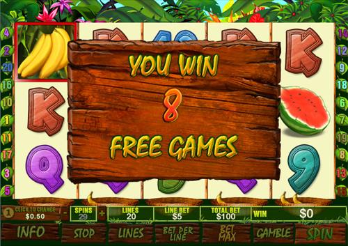 free Banana Monkey free spins prize