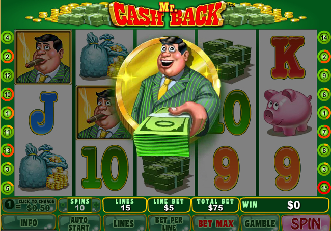 free Mr. Cashback slot bonus feature