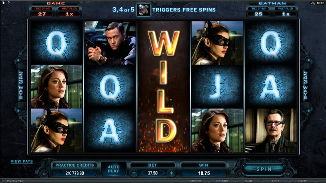 The Dark Knight Rises Slots - Play Now with No Downloads