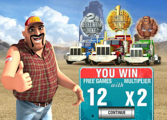 free Highway Kings Pro slot bonus feature
