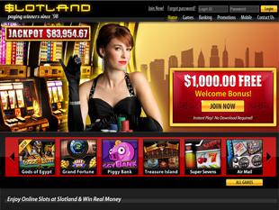 Slotland Mobile Casino Home