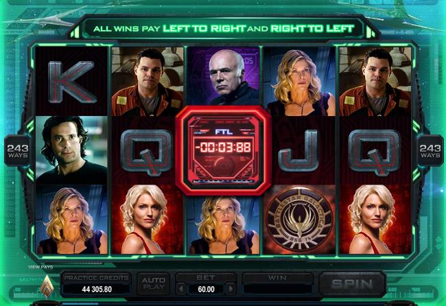 free Battlestar Galactica slot bonus feature