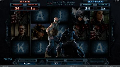 free The Dark Knight Rises free spins accumulator