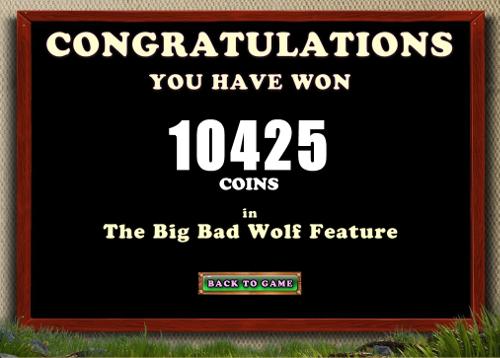 Piggy Fortunes Bonus Feature winning