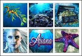 free Ariana slot game symbols