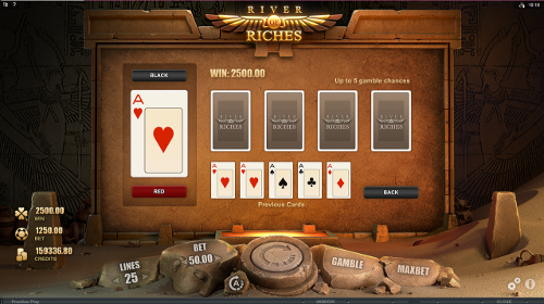 free River of Riches gamble feature