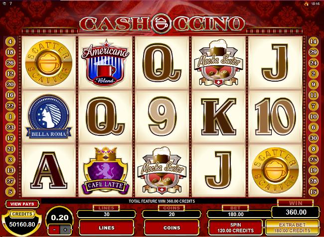free CashOccino slot bonus feature