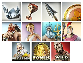 free The Legend of Olympus slot game symbols