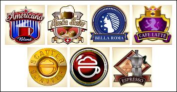 free CashOccino slot game symbols