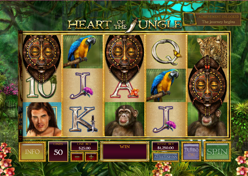 free Heart of the Jungle free spins feature