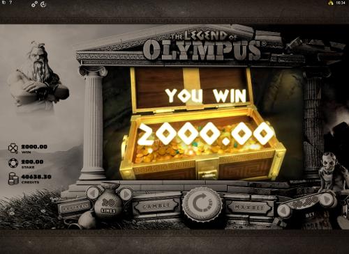 free The Legend of Olympus bonus game prize