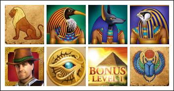 free Daring Dave and the Eye of Ra slot game symbols