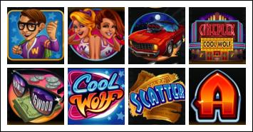 free Cool Wolf slot game symbols