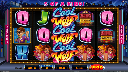 free Cool Wolf 5 of a Kind