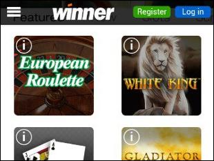 Winner Mobile Casino Lobby