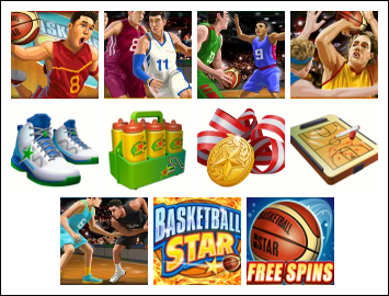 free Basketball Star slot game symbols
