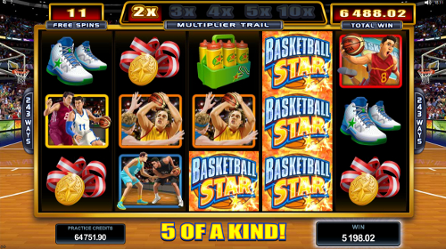 free Basketball Star 5 of a Kind