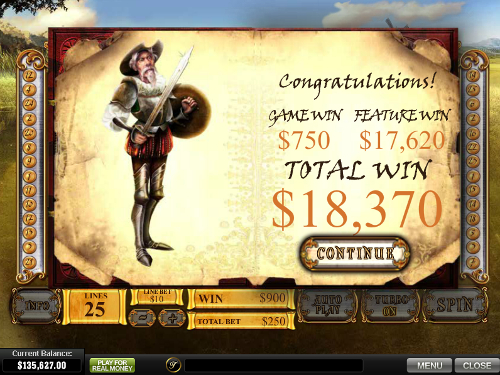 free The Riches of Don Quixote free spins win