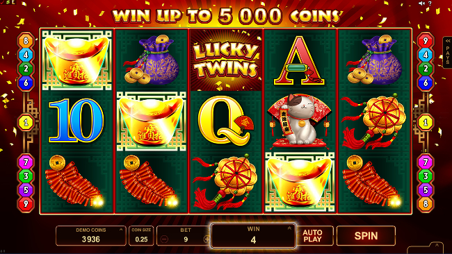 free Lucky Twins slot scatter feature