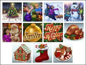 free Happy Holidays slot game symbols