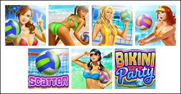 free Bikini Party slot game symbols