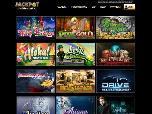 Jackpot Mobile Casino Lobby