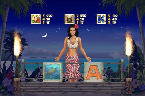 free Hawaiian Treasure free spins feature