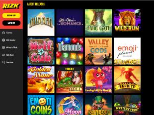 Rizk Casino Lobby