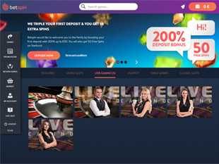 Betspin Casino Home