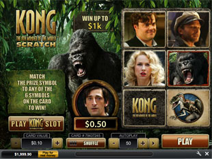 Play Kong Scratch Cards at Casino.com