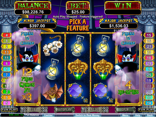 free Count Spectecular slot bonus feature