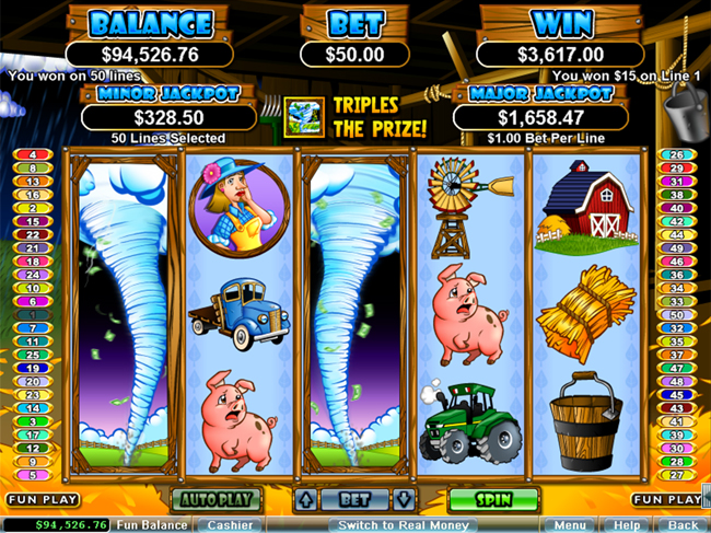free Triple Twister slot bonus feature