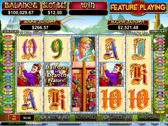 free Hairway to Heaven slot bonus feature