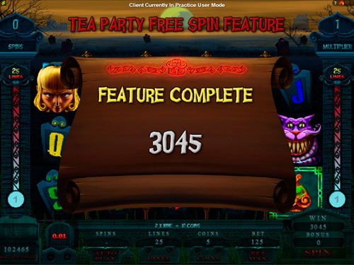 free Alaxe in Zombieland tea party feature total prize