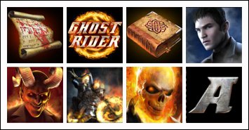 free Ghost Rider slot game symbols