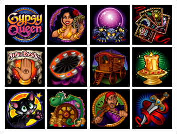 free Gypsy Queen slot game symbols